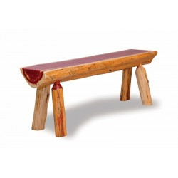 Rustic Red Cedar Log HALF LOG BENCH
