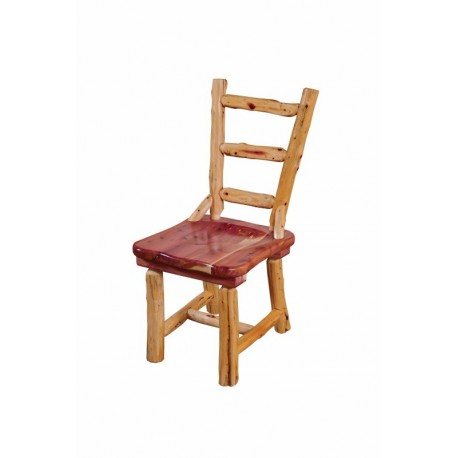 Ladder Back Red Cedar Log Dining Chair