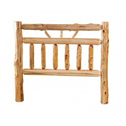 Rustic Red Cedar Log Bed - Wagon Wheel Style -*HEADBOARD ONLY*