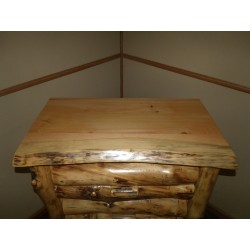 Rustic Aspen Log 4 Drawer Dresser