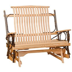 Rustic Hickory 4' Glider