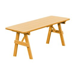 6 Foot Pine Traditional Picnic Table Only
