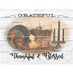 Wood Pallet Art -Grateful Thankful and Blessed (Fall)