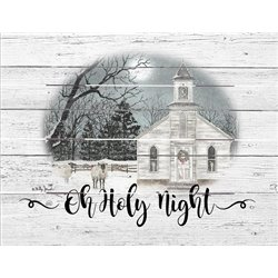 Wood Pallet Art - Oh Holy Night