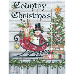 Wood Pallet Art - Country Christmas