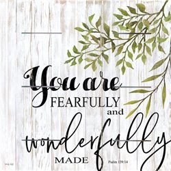 Wood Pallet Art - You are Fearfully and Wonderfully Made