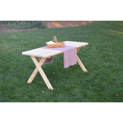 Pressure Treated Pine Cross Leg Picnic Table ONLY - 4, 5, 6, or 8 Foot