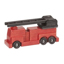 Small Wooden Firetruck in Red