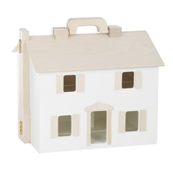 Wooden Folding Doll House - White/Natural
