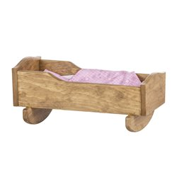 Toy Doll Cradle fits 12 inch to 18 inch Dolls - Harvest