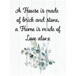 Wood Pallet Art - A Home Is Made of Love Alone