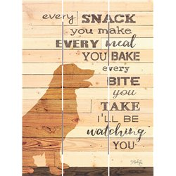 Wood Pallet Art - Every Snack You Make