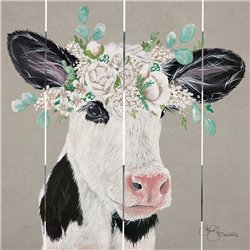 Wood Pallet Art - Patience the Cow