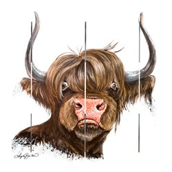 Wood Pallet Art - Carabelle the Highland Cow