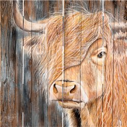 Wood Pallet Art - A Windy Day on the Farm