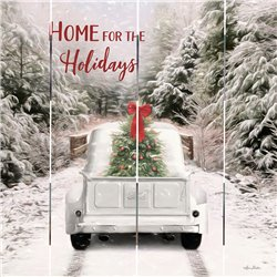 Wood Pallet Art - Home for the Holidays