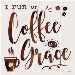 Wood Pallet Art - Coffee and Grace