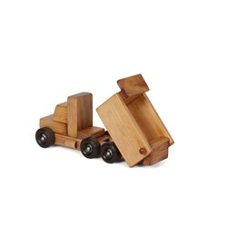 Wooden Working Dump Truck in Harvest Stain - Small