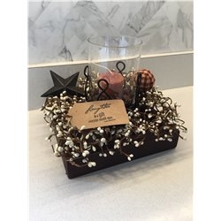 Candle Tray with Star