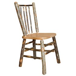 Set of 2 Hickory Stick Back Rustic Dining Chairs