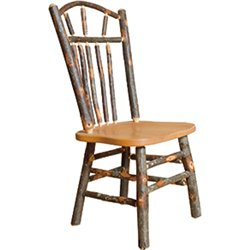 Set of 2 Hickory Wagon Wheel Rustic Dining Chairs