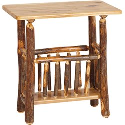 Rustic Hickory Regular Magazine End Table