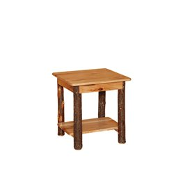 Rustic Hickory Regular End Table