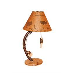 Rustic Hickory Fishing Pole Table Lamp