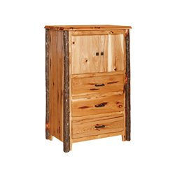 Rustic Hickory Chest - 3 Drawers , 2 Doors