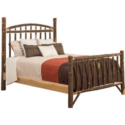 Rustic Hickory Log Mission Style Headboard - Twin / Full / Queen / King