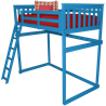 Mission Loft Bed with Side Ladder - Twin or Full