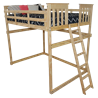 Mission Loft Bed with End Ladder - Twin or Full