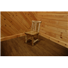 White Cedar Log Spindle Back Dining Chair