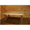 Rustic White Cedar Log Solid Top Family Dining Table