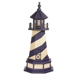 Hybrid Standard and Premium Lighthouses with Base - Cape Hatteras - Patriot Blue & Ivory