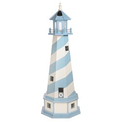 Hybrid Standard and Premium Lighthouses with Base - Cape Hatteras - Powder Blue & White