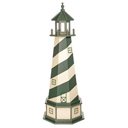 Hybrid Standard and Premium Lighthouses with Base - Cape Hatteras - Turf Green & Ivory