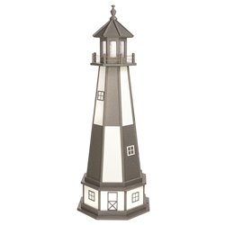 Hybrid Standard and Premium Lighthouses with Base - Cape Henry - Dark Grey & White