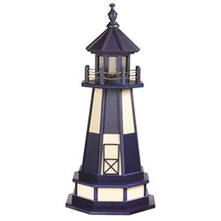 Hybrid Standard and Premium Lighthouses with Base - Cape Henry - Patriot Blue & Ivory