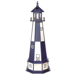 Hybrid Standard and Premium Lighthouses with Base - Cape Henry - Patriot Blue & White