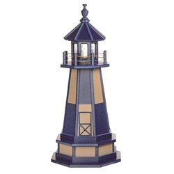 Hybrid Standard and Premium Lighthouses with Base - Cape Henry - Patriot Blue & WeatherWood