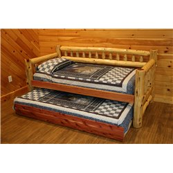 Rustic Red Cedar Log Day Bed and Trundle