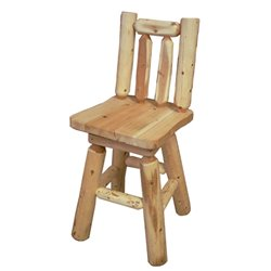 White Cedar Log Bar Stool with out Arms