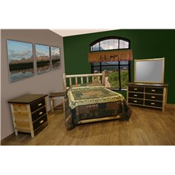Mountain Collection Standard Bed Set - Bed, Dresser, Mirror, Nightstand, & Chest - 2 Size Options