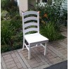 "Poly Lumber Wood Patio Set- 44"" Round Table and 4 Ladder Back Chairs"