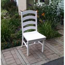 """Poly Lumber Wood Patio Set- 33"""" Round Table and 2 Ladder Back Chairs"""