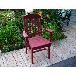 "Poly Lumber Wood Patio Set- 33"" Square Table and 2 Classic Chairs with Arms"