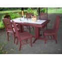 "Poly Lumber Wood Patio Set- 72"" Rectangle Table and 6 Classic Chairs"