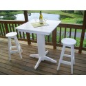 "Poly Lumber Wood Patio Set- 33"" Square Bar Table and 2 Stools"