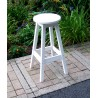 "Poly Lumber Wood Patio Set- 33"" Round Bar Table and 2 Stools"